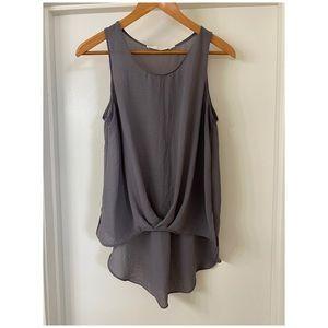 ASTR The Label Grey Sleeveless Tunic Top